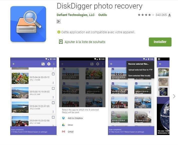 Récupérer vos photos supprimées sur android avec une application
