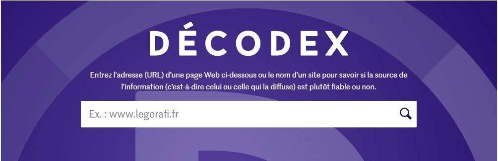 fiabilité de site web - decodex - site fiable