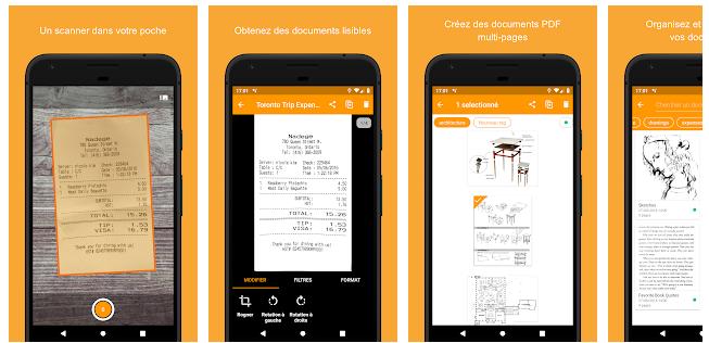 Genius Scan - meilleurs applications mobile pour scanner des documents