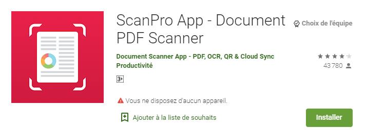 meilleur application pour scanner un documents - scanbot