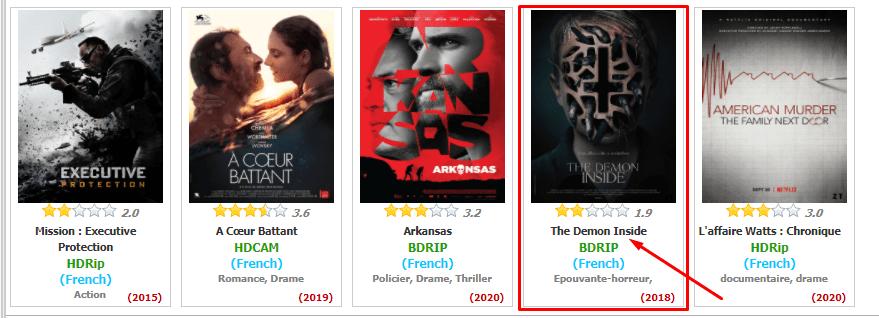 choisir un film sur zone téléchargement