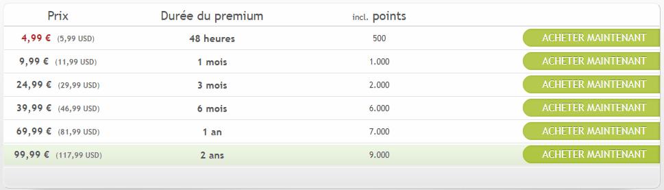 compte premium uploaded