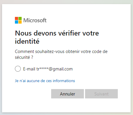récupérer mot de passe hotmail