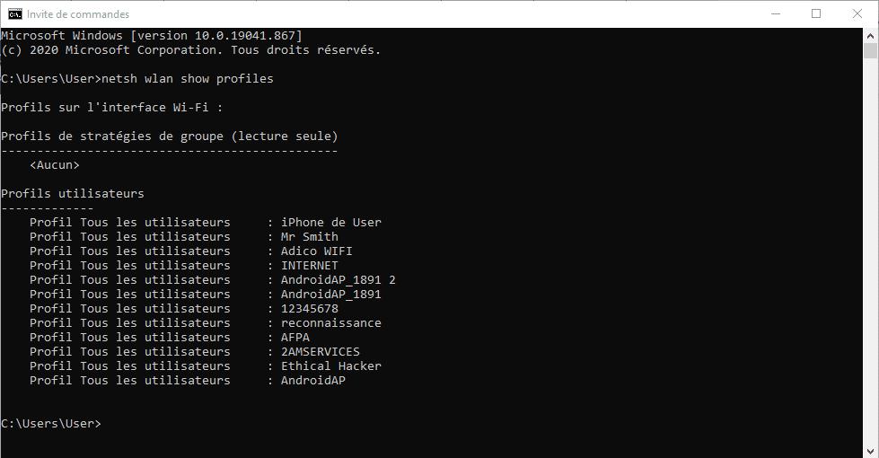 liste wifi connectés