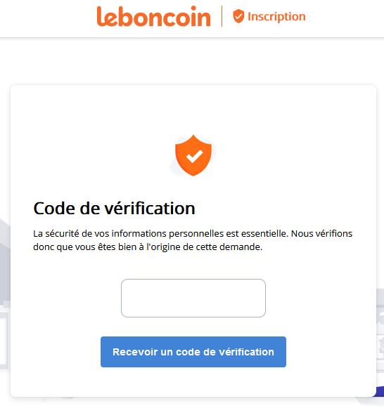 code de vérification leboncoin