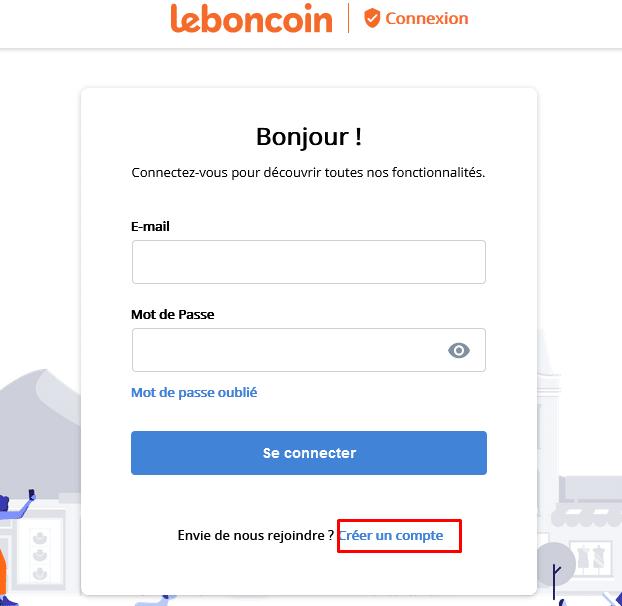 créer un compte sur leboncoin